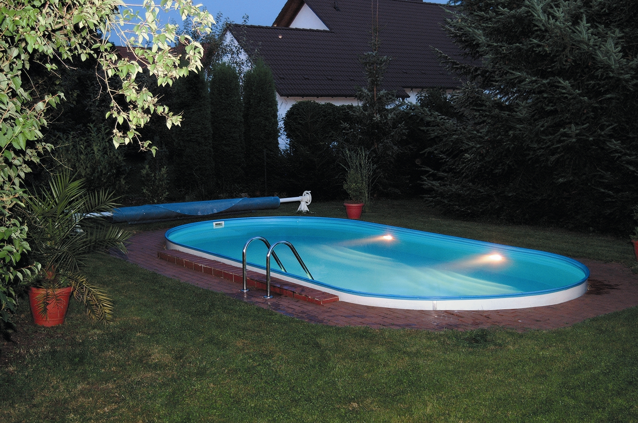 Oval pooler for Pool 300 x 120
